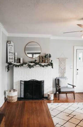 My fireplace painted in white